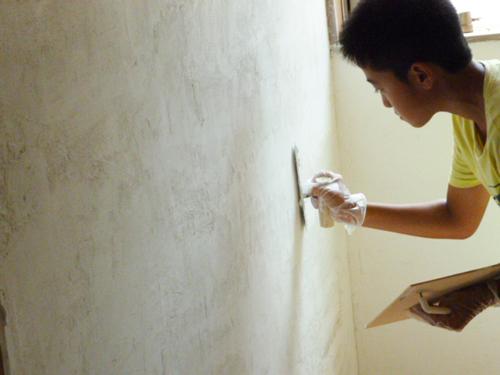 漆喰 壁リフォーム