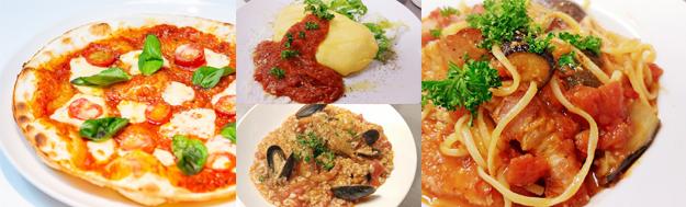 モンテベッロ・スピガドーロ・トマトソースで作る。ピッツァ、パスタ、リゾット、オムレツ。