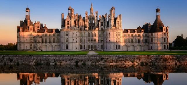 美女と野獣でモデルとなったシャンボール城。フランスロワール最大の古城で世界遺産。