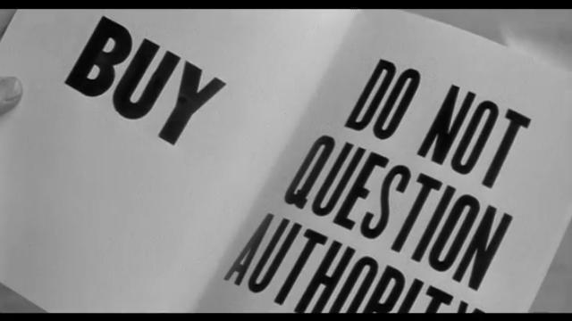 映画 ゼイリブ『THEY LIVE』Do not question authority 権威に疑問を抱くな 監督:ジョン・カーペンター,主役:ロディ・パイパー