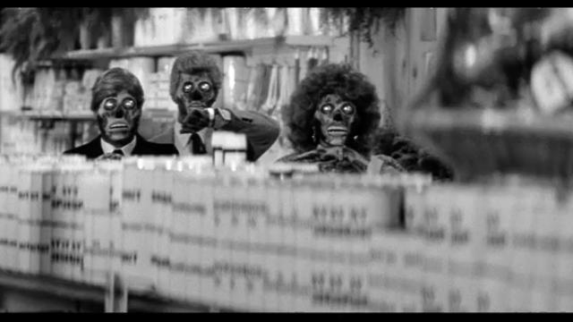 映画 ゼイリブ『THEY LIVE』スーパーのシーン1監督:ジョン・カーペンター,主役:ロディ・パイパー