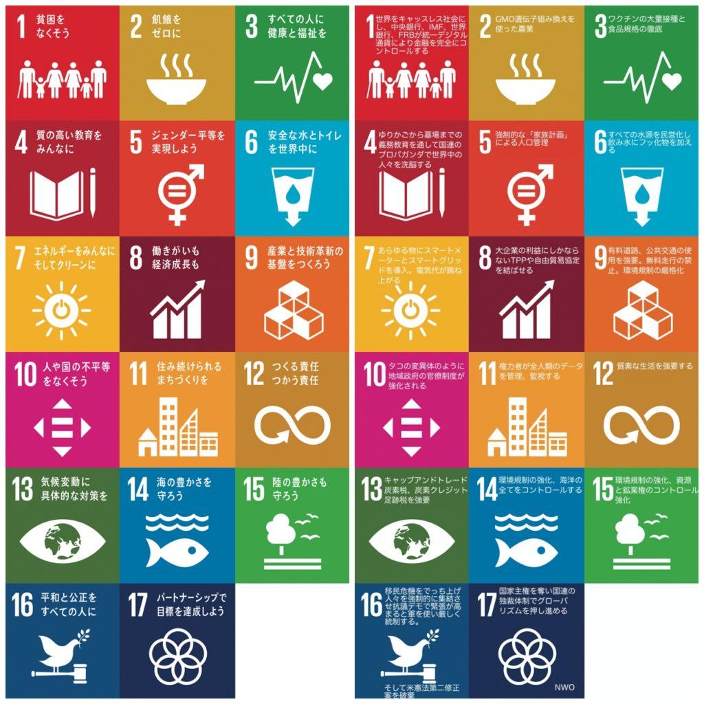SDGs 17項目を並べて比べてみよう。国連アジェンダの隠れた行動計画を読み取る。2020を皮切りに、2030に向けた具体的行動計画は読み取り方よっては大選別となる。